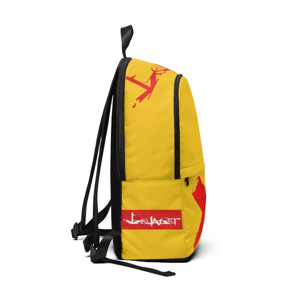 Detroit RED - Unisex Fabric Backpack(YELLOW)
