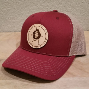Grillnade Authentic Leather Patch Hat - Red