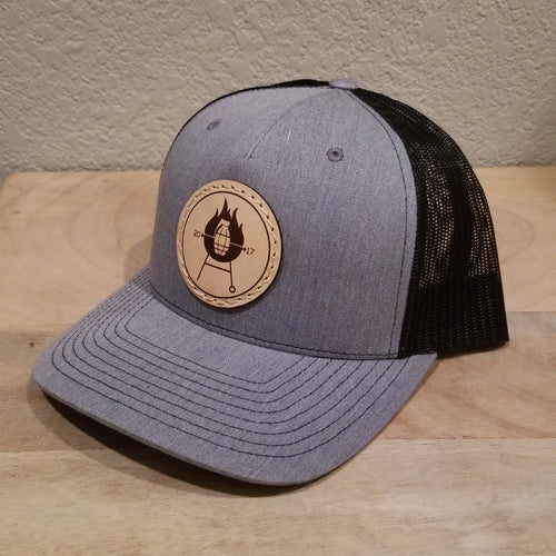 Grillnade Authentic Leather Patch Hat - Heather Gray