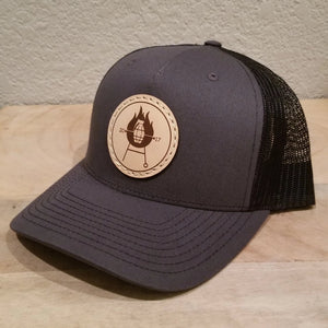 Grillnade Authentic Leather Patch Hat - Charcoal