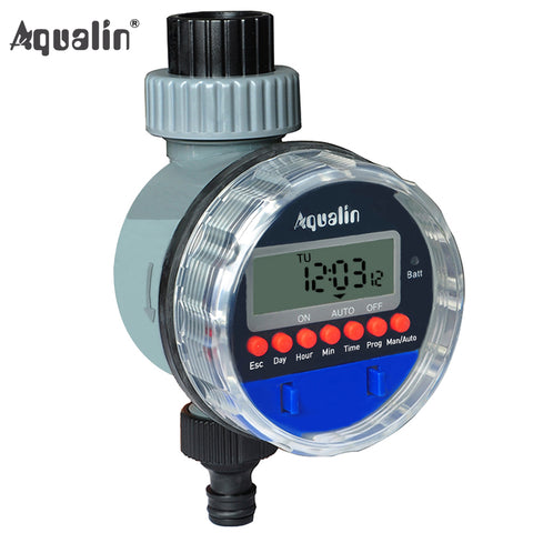 Garden Timer Irrigation Controller System with LCD Display