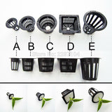 Black Hydroponic Plant Basket (various sizes available)