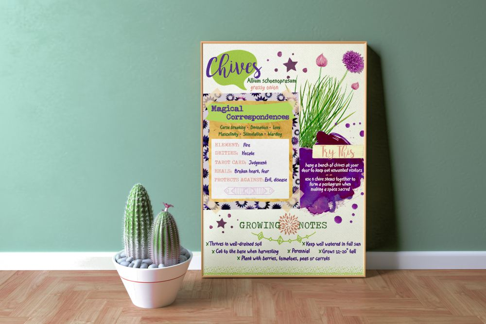 "Chives 18"" x 24"" Poster Printable"