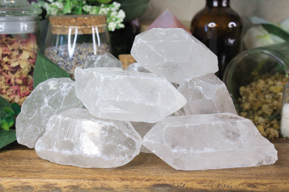 Clear Quartz Rough Points 4 - 5 oz - 1 piece