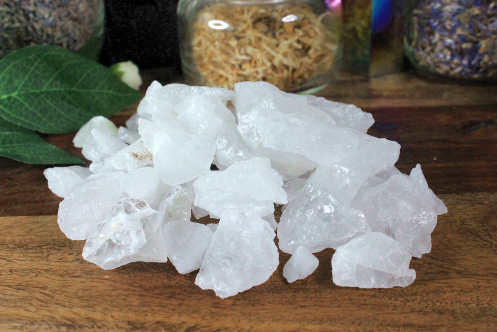 Clear Quartz Rough Pieces - 2 oz bag