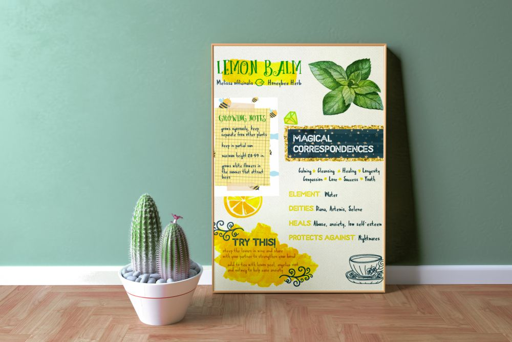 "Lemon Balm 18"" x 24"" Poster Printable"