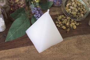 Pyramid Candle - White