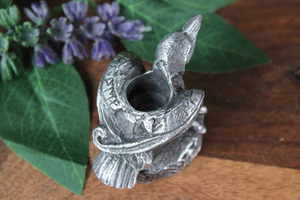 Pewter Raven Chime Candle Holder