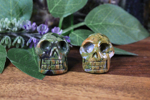 Rhyolite (Rainforest Jasper) Skull