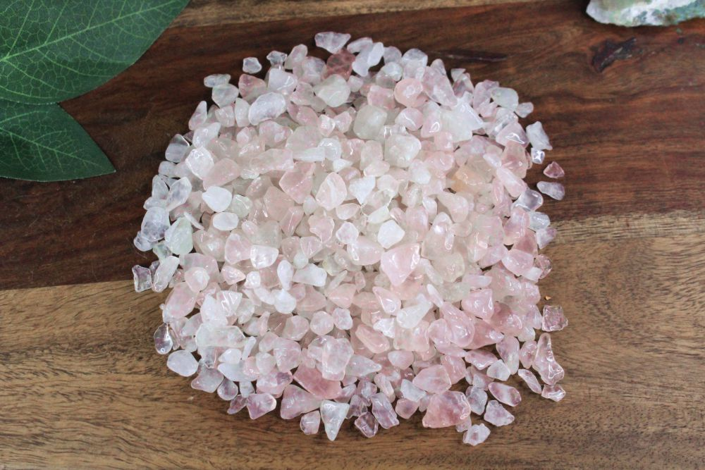 Rose Quartz Chips - 2 oz Bag