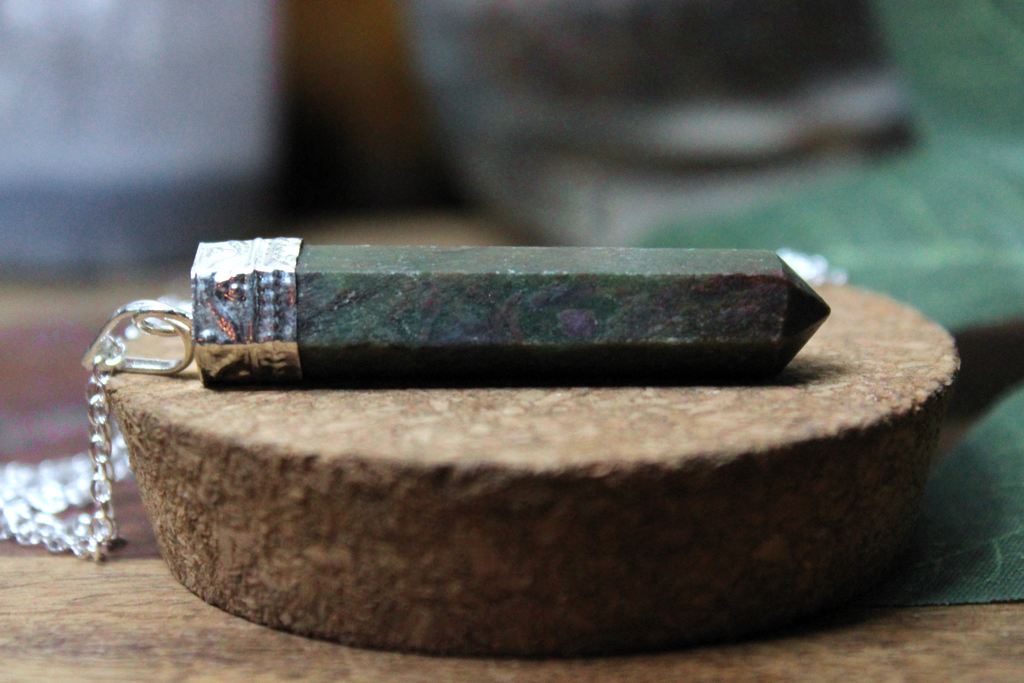 Ruby Zoisite Point 2.25""