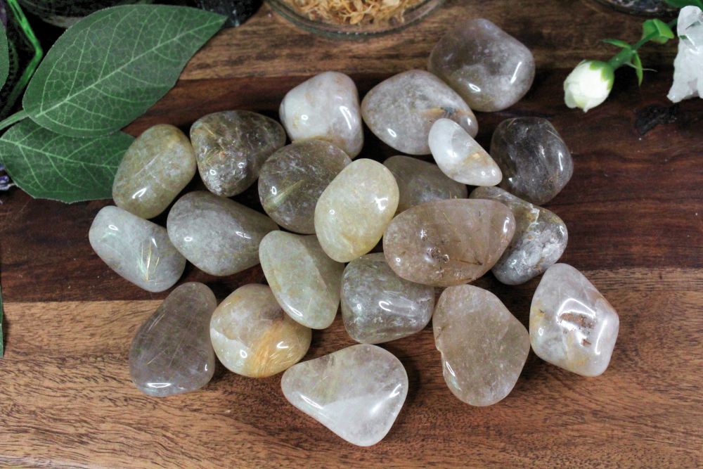 Tumbled Rutilated Quartz - Set of 2