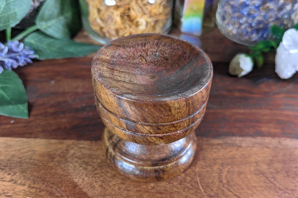 Wooden Sphere Stand
