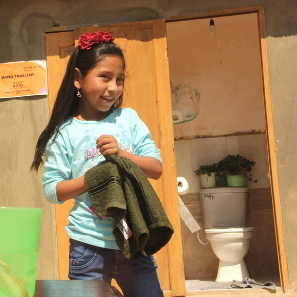 Thanks to her terrific toilet, Neidy has time and energy to go to school – instead of worrying about her health, Bolivia ©2019 World Vision