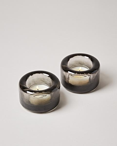 Riverstone Tealight Pair - Smoke