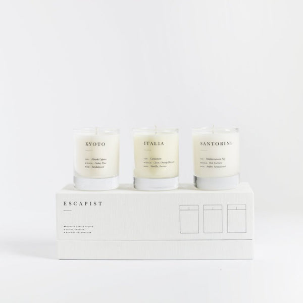 3 Escapist Mini Candle Set