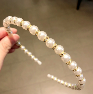PEARL AND DIAMANTE HAIRBAND