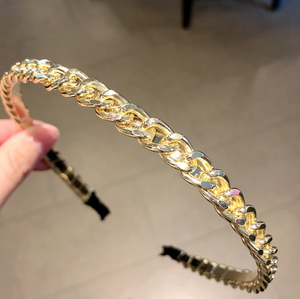 GOLD LINK HAIRBAND