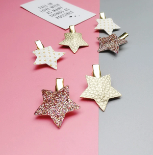6 PIECE STAR HAIRCLIPS