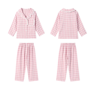 PINK CHECK PYJAMAS SET