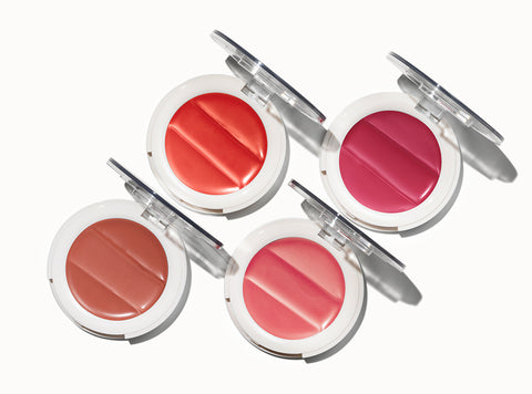 Undone Beauty 3-in-1 Lip and Cheek Palette in four shades