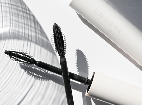 Undone Beauty Indielash Mascara with special wand on white background