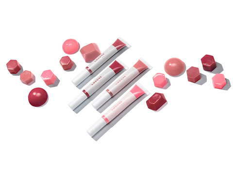 Undone Beauty Lip Life Balm collection with an exfoliating tip and natural colors.