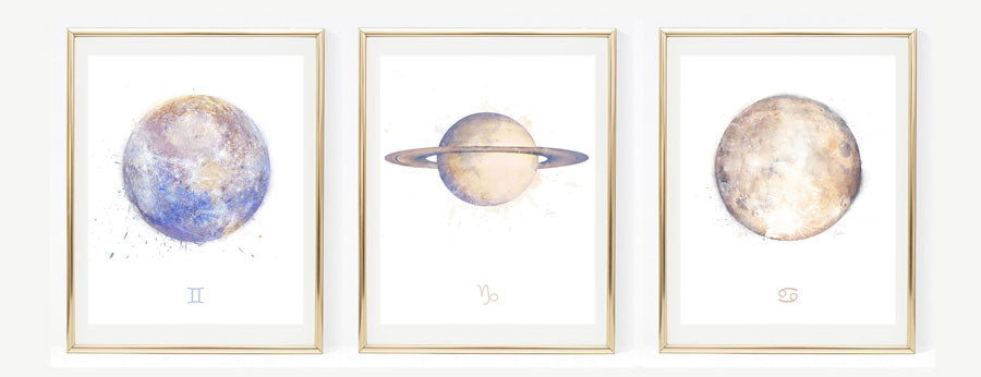 Zodiac Birthday Signs | Zodiac Art Print Collection | Astrology Art