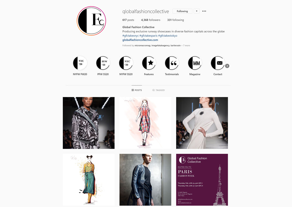 custom fashion illustration used as content in digital marketing campaign by karlie rosin