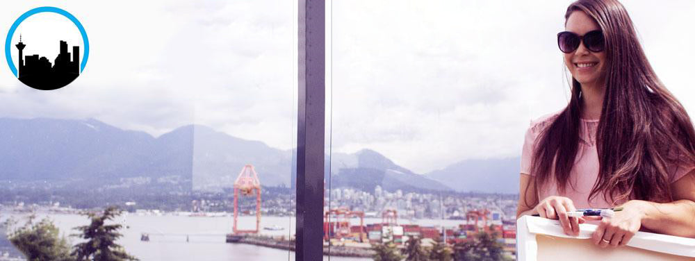 Karlie Carpentier Rosin Artist on Gastown Rooftop with Vancity Feature logo