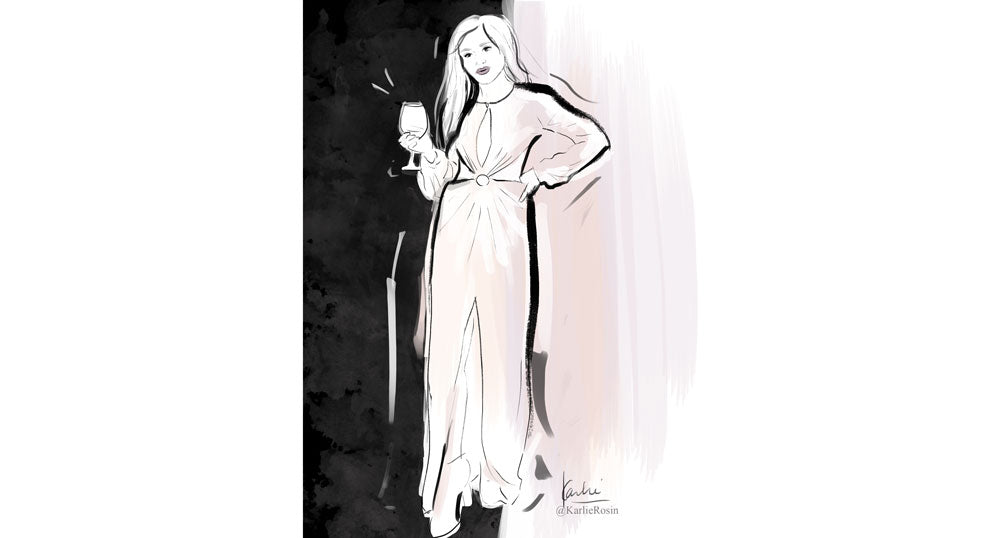 Karlie Rosin creates custom fashion illustrations here is an example of a blogger custom illustration