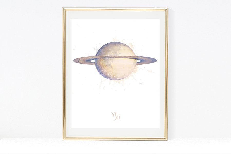 zodiac birthday signs art print collection capricorn artwork
