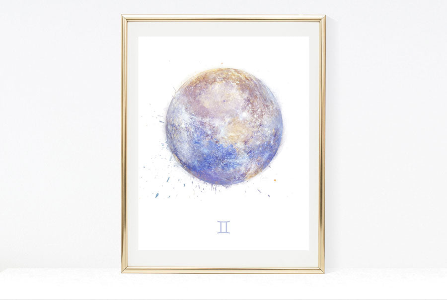zodiac birthday signs art print collection Gemini artwork