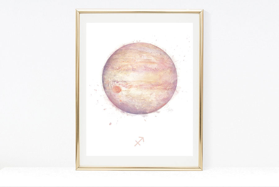 zodiac birthday signs art print collection Jupiter artwork