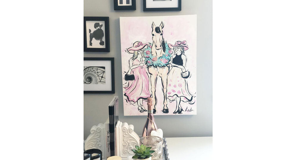 Karlie Rosin creates custom fashion illustrations and here is one of ILHSV at the Deighton Cup