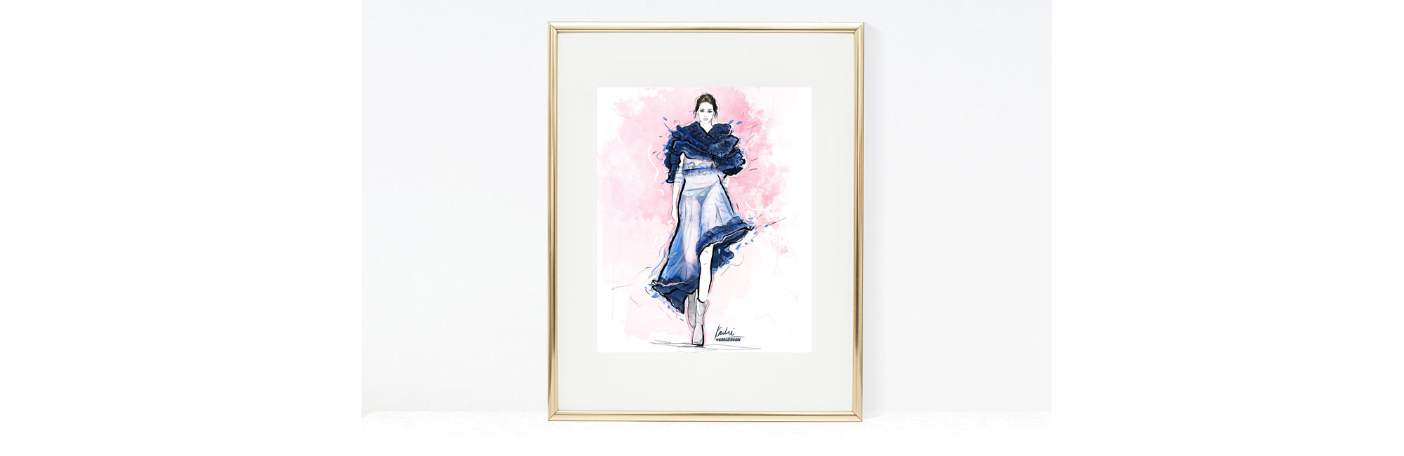 Karlie Rosin creates custom fashion illustrations here is an example