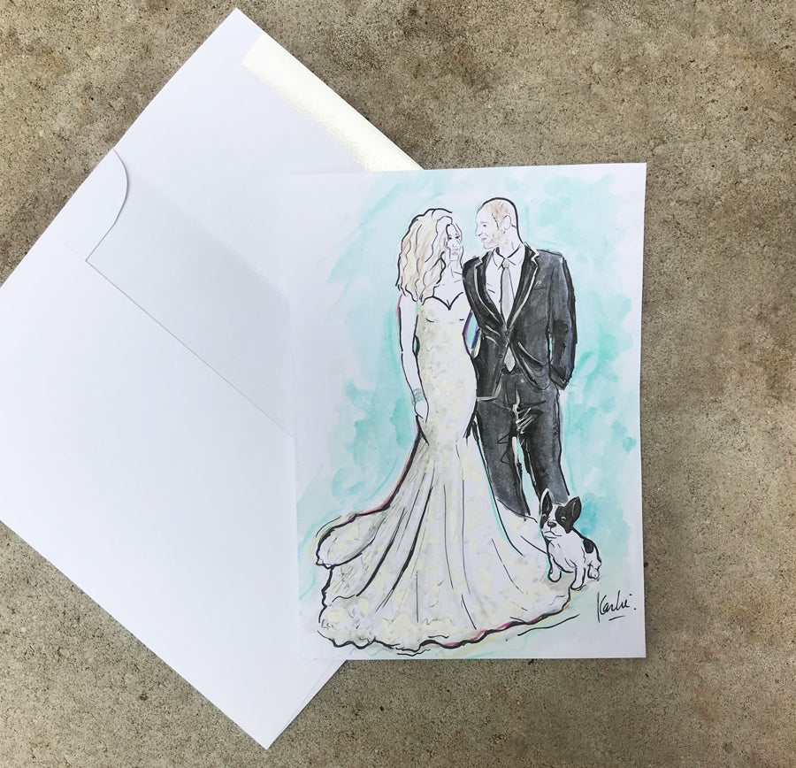 Wedding and Bridal Illustrations By Karlie Rosin