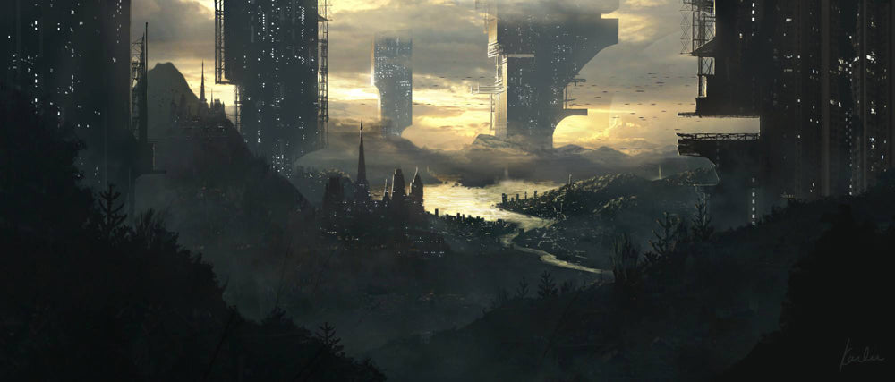 concept_art_by_karlie_rosin_futuristic_city_golden-hour