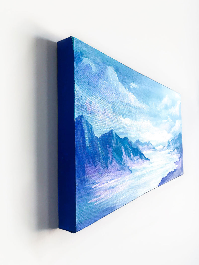 Blue Mountain Views | Landscape Painting Original Art | 12x24