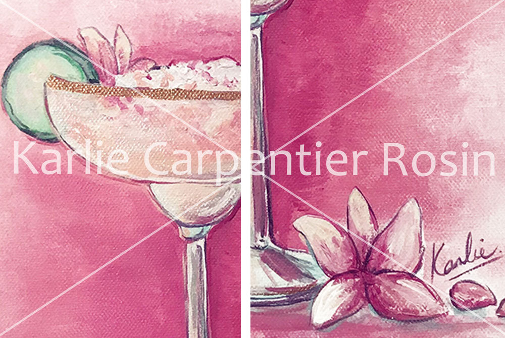 Cocktail Art in a Coupe Glass | Cocktail Illustration | Acrylic on Canvas| 12x12