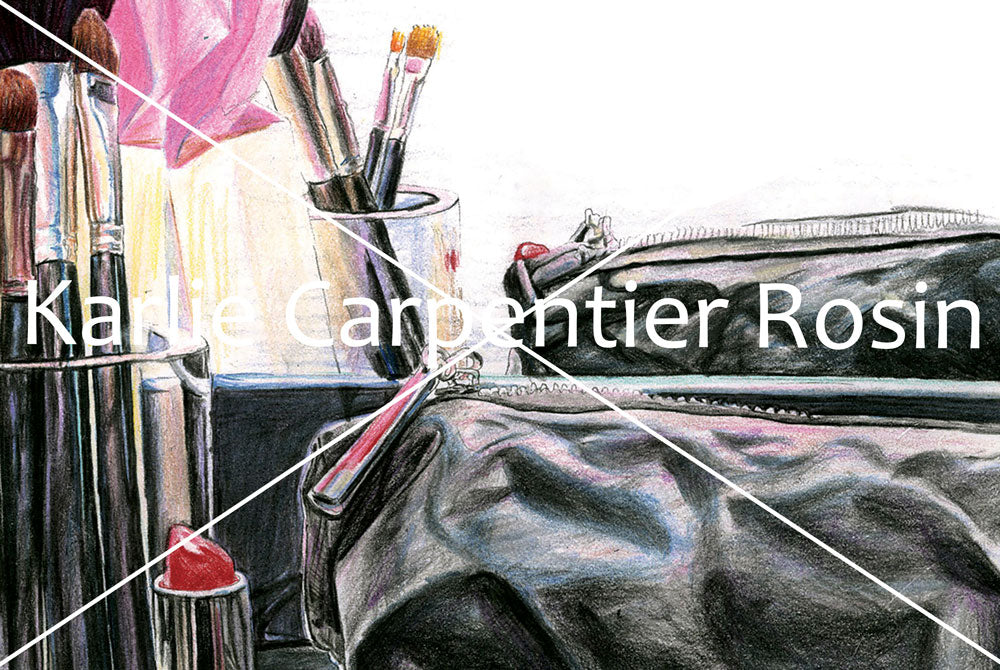 Cosmetic Beauty Bag Still Life Art | Beauty Illustration | 8.5x11
