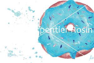 Blue Aqua Doughnut Art | Donut Illustration | 4.5x6
