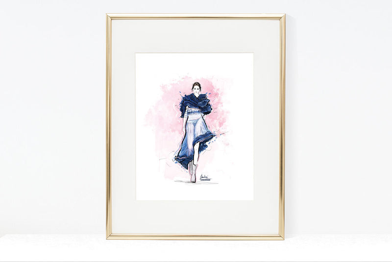 Custom Fashion Illustrations | Fashion Art | Mixed Media - Watercolour, Acrylic, Digital Paint