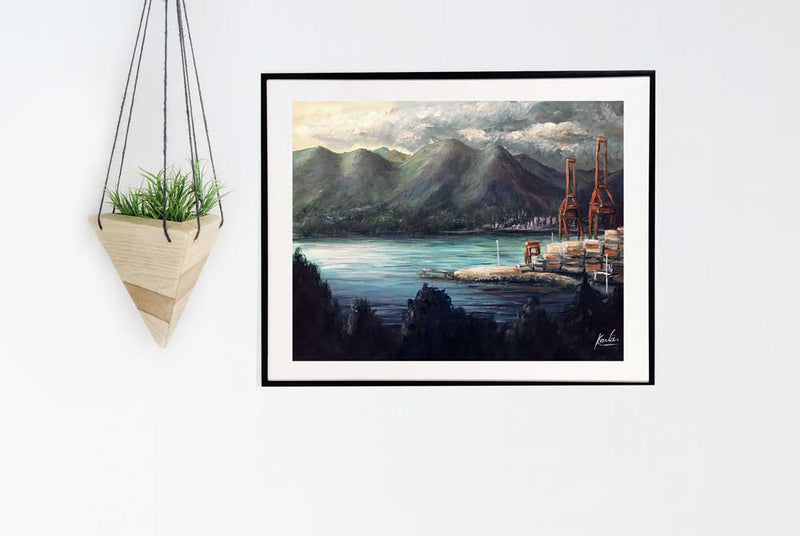 Gastown Views of North Vancouver Art Print | 11x14, 8x10