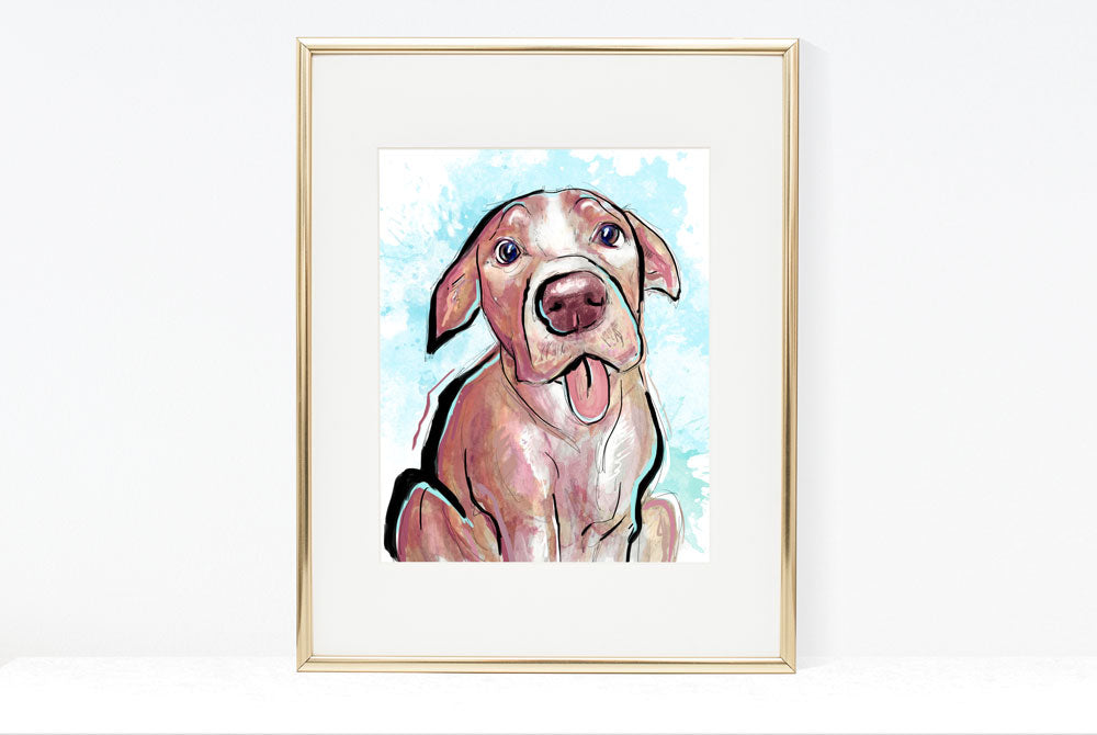 Cake Please, Dog Illustration | Pawsitive Wishes Collection | 5x7, 8x10, 11x14
