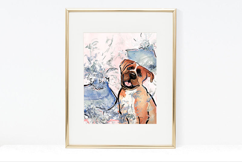While You Were Out, Dog Illustration | Pawsitive Wishes Collection | 5x7, 8x10. 11x14