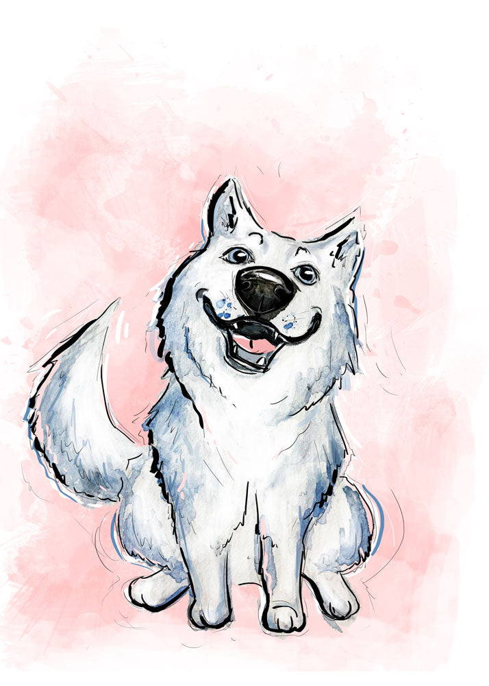 Made You Something, Dog Illustration | Pawsitive Wishes Collection | 5x7, 8x10, 11x14