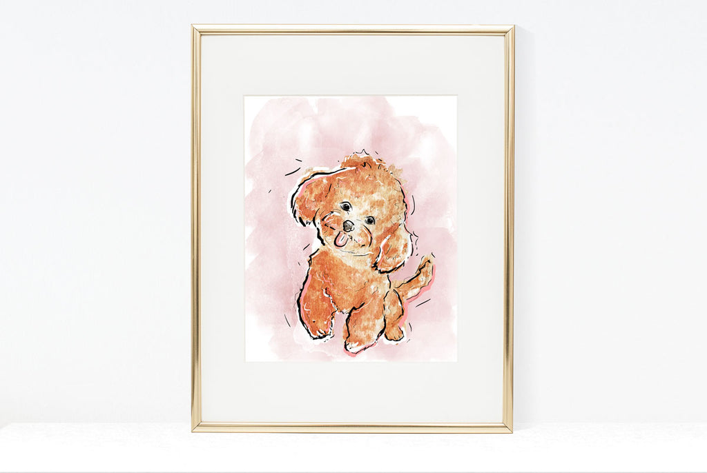 Barkday, Dog Illustration | Pawsitive Wishes Collection | 5x7, 8x10, 11x14