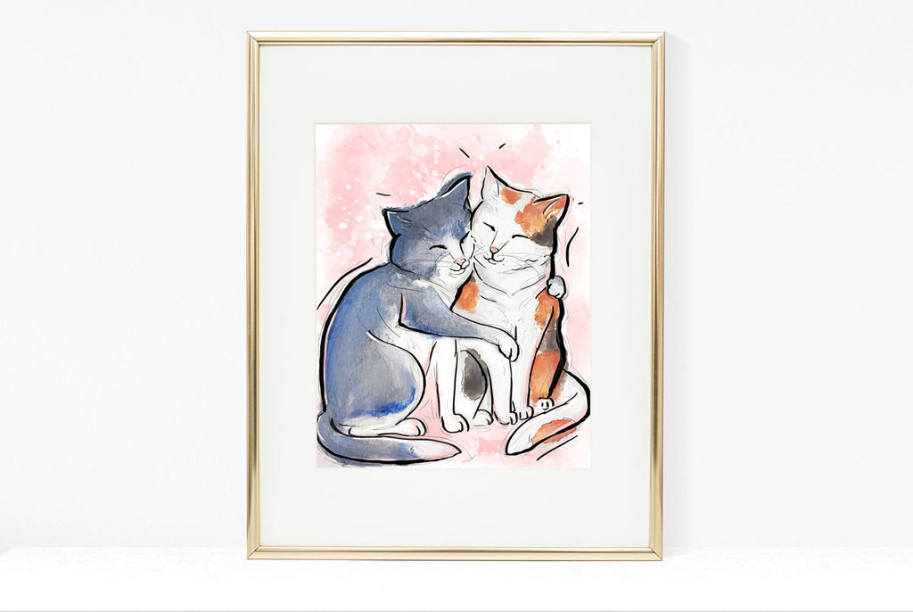 Embrace Your Inner Feline, Cat Illustration | Pawsitive Wishes Collection | 5x7, 8x10, 11x14