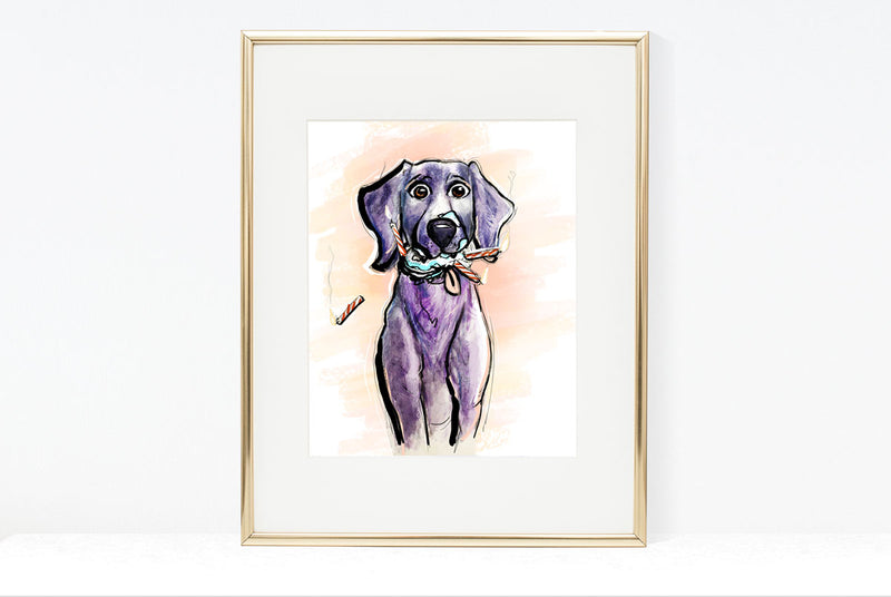 Haven't Seen Cake, Dog Illustration | Pawsitive Wishes Collection | 5x7, 8x10, 11x14